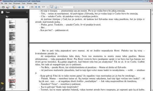 Šiuo metu lietuviškas elektronines knygas galima gauti tik nelegaliai.