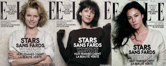 """""""Elle"""" žurnalas jau 3 numerius iš eilės viršelio žvaigždes fotografavo be makiažo, įmantrių šukuosenų, prašmatnių drabužių, aksesuarų ir be jokių kompiuterinių patobulinimų."""