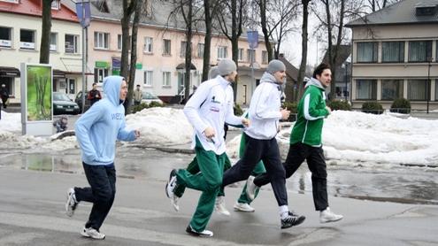 Bėgimo dalyviai. Autoriaus nuotr.
