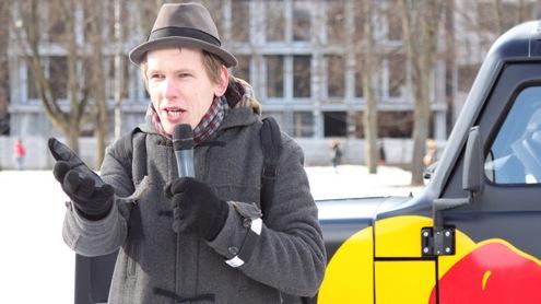 Domas Raibys – Slam poezijos skaitymo varžybų pradininkas Lietuvoje. Agnės Raščiūtės nuotr.