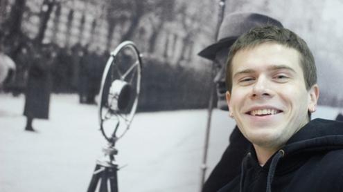 """Žurnalistikos bakalauro 4 kurso studentas, """"0311"""" autorius Kęstutis Neverauskas. Autoriaus nuotr."""