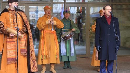 Raimundas Alekna kvietė nepamiršti aukštaičių muzikos ir šokių. Nuotrauka Giedrės Trapikaitės.