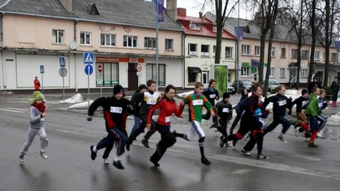 """Tradicinis bėgimas """"Mes galime"""". Autoriaus nuotr."""