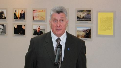 Respublikinės Afganistano karo veteranų bei kitų karinių konfliktų dalyvių asociacijos pirmininkas Juozas Natulkevičius tikino, kad Rusijoje panašių parodų nėra ir būti negali. Autoriaus nuotr.