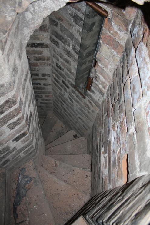 Laiptai į palėpę. Autoriaus nuotr.
