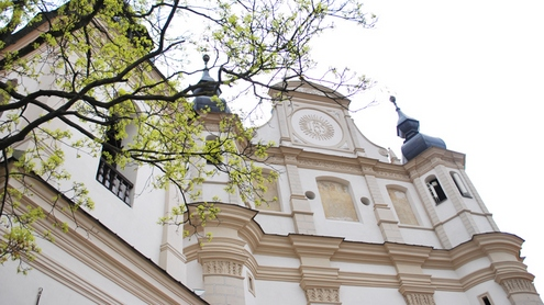 Šv. Mykolo bažnyčia, kurioje buvo palaidotas Leonas Sapiega.  Autorės nuotrauka.