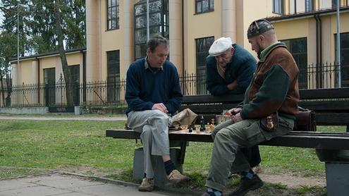 Prie šachmatų lentos. Autoriaus nuotr.