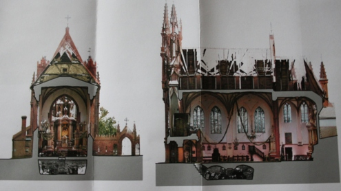 Skenuotos bažnyčios vaizdai. Autoriaus nuotr.