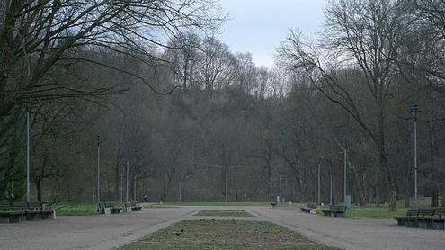Vienišas parkas. Autoriaus nuotr.