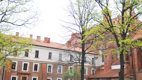 Bernardinų vienuolyno pastatas. Dabar Vilniaus dailės akademija. Autorės nuotr.