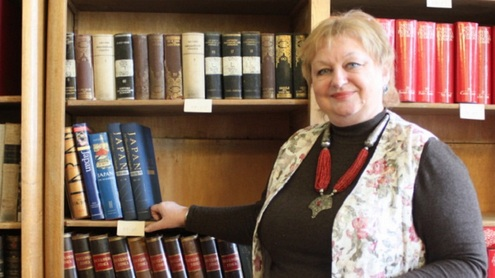 LMA Vrublevskių bibliotekos mokslinė sekretorė Leokadija Kairelienė. Giedrės Trapikaitės nuotr.