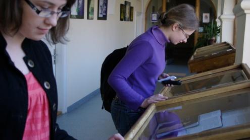 Užsukęs į Technikos biblioteką gali apžiūrėti ir ne vieną parodą. Agnės Mankevičiūtės nuotr.