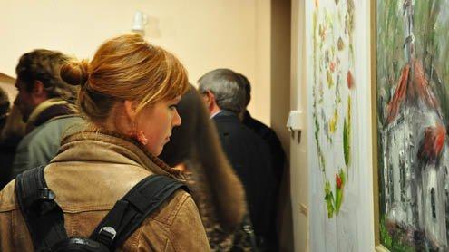 """Šlapelių muziejaus galerijoje atidaryta """"Žvėryno reminiscencijos..."""" paroda. Autorės nuotr."""