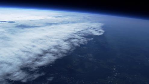 Pirmakursio VU studento E.Kalabucko nuotrauka iš 30km aukščio. Ernesto Kalabucko nuotr.