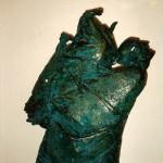 Tamara Janova. Nepakeliama našta (šamotas; 1991 m.; aukštis – 65 cm.) T. Janovos nuotr.