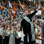 Sąjūdžio mitingas Vingio parke. Vytautas Landsbergis 1991 m. rugpjūčio 23 d.