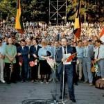 Sąjūdžio mitingas Kalnų parke. 1989 m. rugpjūčio 22 d.