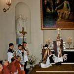 Šv. Mišios Vilniaus arkikatedros Bazilikos tremtinių koplyčioje. 1989 m. birželio 14 d.
