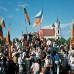 Laimingos rugpjūčio dienos. Vilnius, Lukiškių aikštė, 1991 m.