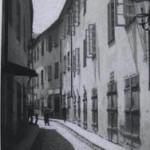 Žydų gatvė tarpukariu. Fotografas – Janas Bulhakas. LCVA nuotr.
