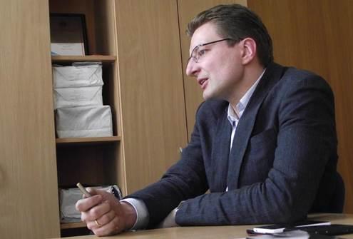 LŽS pirmininkas Dainius Radzevičius teigė, kad svarbiausia – žurnalistų solidarumas. Viktorijos Steniulytės nuotr.