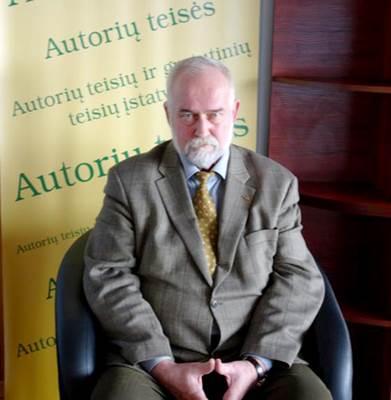 Lietuvos autorių teisių gynimo asociacijos (LATGA) direktorius Jonas Liniauskas (nuotrauka autorės)