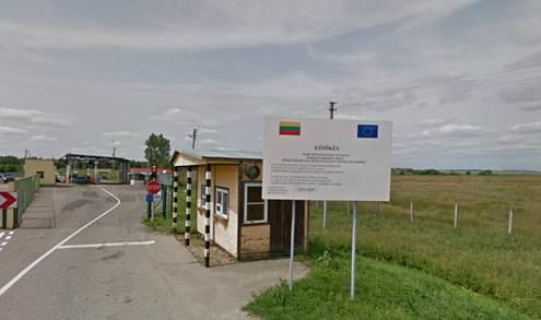 Pasienio kontrolės punktas Eišiškėse. Google Street View nuotr.