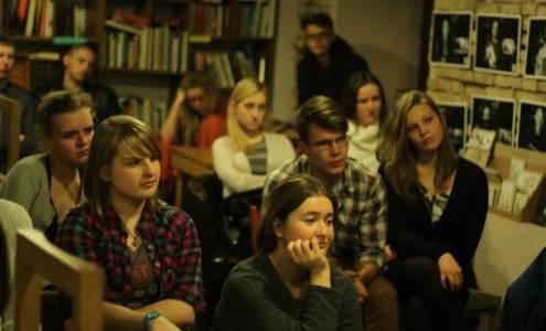 Propagandos klausimai itin domino VU žurnalistikos studentus. Audros Avižiūtės nuotrauka