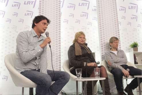 Kristupas Sabolius, Jūratė Baranova ir Nerijus Milerius. Autorės nuotrauka.