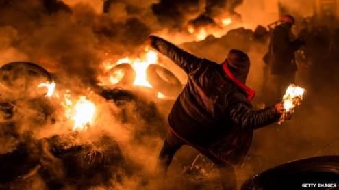 Lapkritį Kijeve prasidėję protestai Ukrainą atvedė prie bankroto ribos. bbc.co.uk nuotrauka