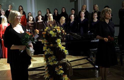Latvių ir lietuvių studentų chorai virpino klausytojų Liepojoje (Latvija) širdis. Autorės nuotrauka