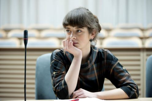 """""""A. Kaniauskaitė sako, kad šiuo metu jai patinka dalyvauti politinėje veikloje, tačiau ji nežino ar ateityje tęs politikės karjerą."""