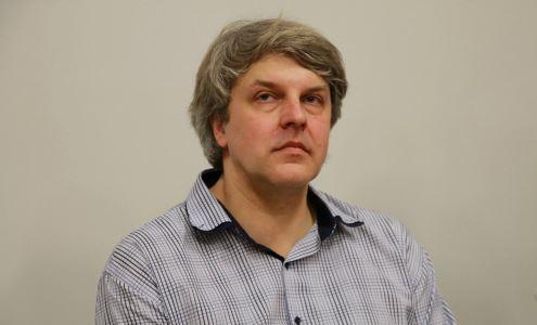 Vilniaus universiteto komunikacijos fakulteto docentas Rimvydas Laužikas. Dariaus Versecko nuotr.
