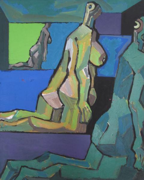 """Vincas Kisarauskas """"Trys moterys"""", 1975 12 (drobė, aliejus). (Nuotr. A. Mikuckytė)"""