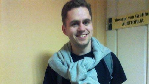 Chemijos fakulteto studentas Antanas