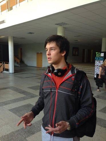 Ekonomikos fakulteto studentas Linas