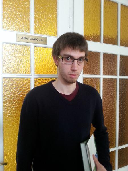 Medicinos fakulteto studentas Ignas