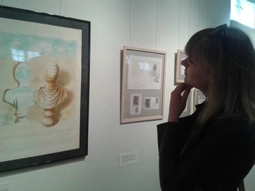 Parodos lankytojai galėjo išvysti ir ilgametės S. Dali sielos draugės Amandos Lear litografiją. Autorės nuotr.