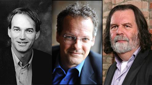 (iš dešinės) prof. dr. Thomas Hylland Eriksen (Norvegija), prof. dr. Eugène Loos ir prof. dr. Pieter van Mensch (Olandija).