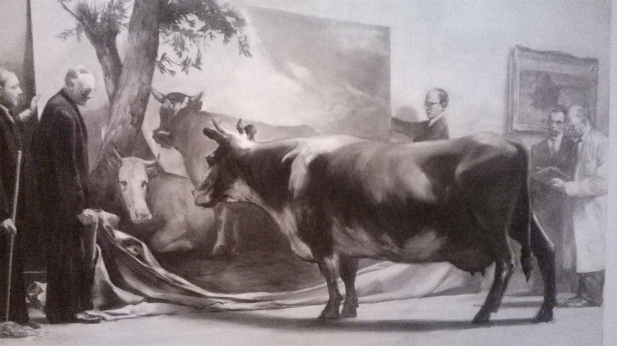 Marko Tansejaus paveikslas su karve. nuotr. A. Vaišnio