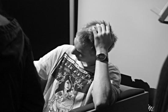"""Grupės """"ba."""" būgnininkas Jonas Butvydas. Indrės Ožalinskaitės nuotrauka."""