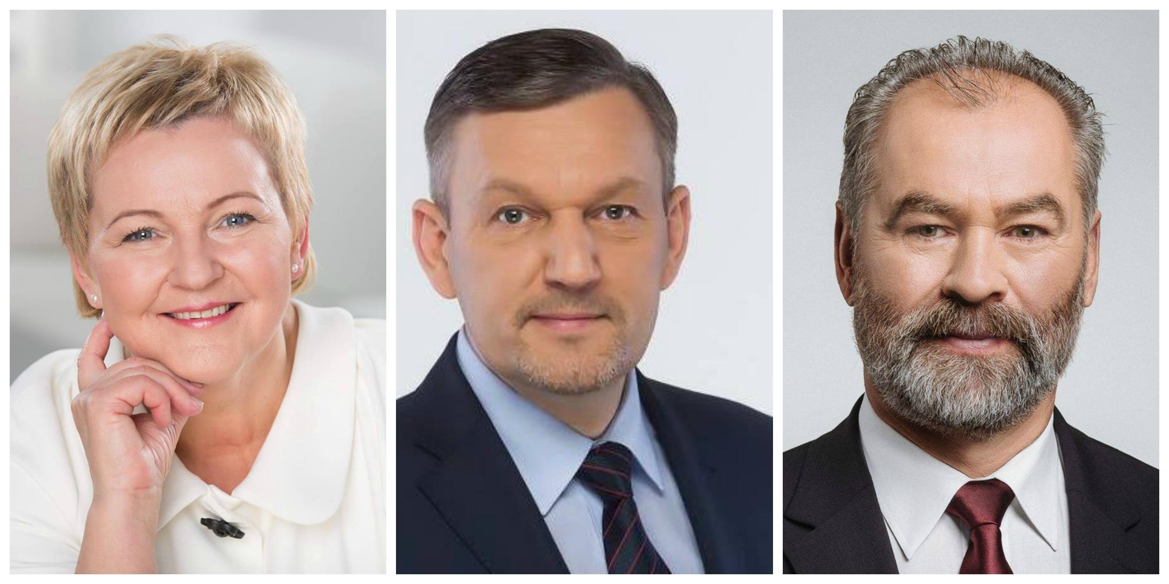 Politikai (iš kairės – Dalia Martišauskienė, Almantas Skruibys, Juozas Mažeika) žemaičius agitavo ne tik gatvėse, bet ir socialiniuose tinkluose.