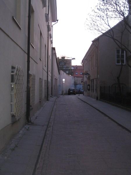 Siaura gatvelė kviečia stabtelėti ir susipažinti su jos istorija. Autoriaus nuotr.