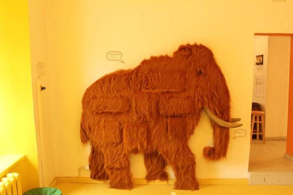 Kalbantis muziejaus eksponatas – mamutas. Autorės nuotr.