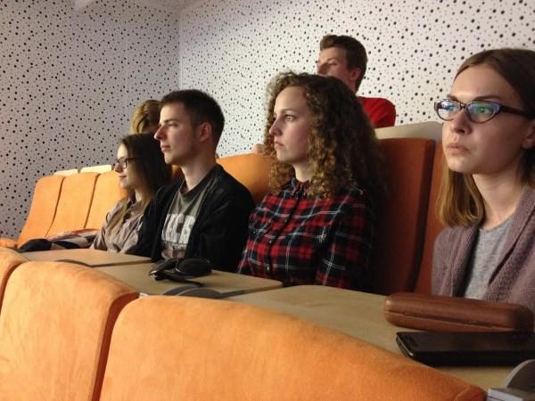 Studentai turėjo unikalią galimybę iš arčiau susipažinti su dokumentiniu kinu.