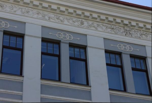 Žuko namų (dab. Tarptautinių santykių ir politikos mokslų institutas) architektūros elementai. Autorės nuotr.