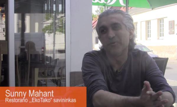 Sunny Mahant - restorano EkoTaco savininkas