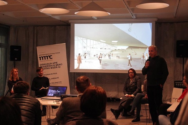 Diskusija apie Modernaus meno centro muziejų. Modernaus meno centro nuotrauka