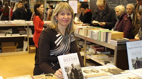 I. Jakubavičienė naujoje knygoje pristatė Antano Smetonos žmonos Sofijos asmenybę. Andriaus Murausko nuotr.