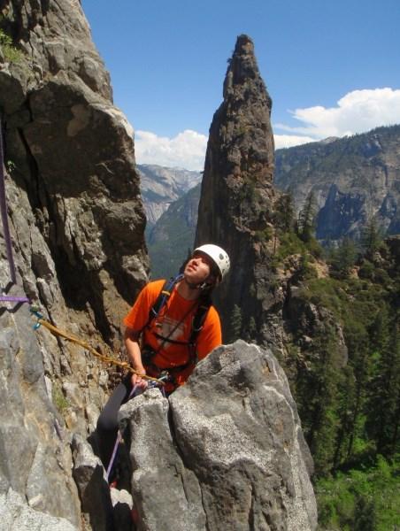 Laipiojimas vertikaliomis uolomis Josemitų nacionaliniame  parke, Kalifornijoje. Asmeninio albumo nuotr.